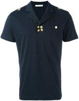 Pierre Balmain gold buttons polo shirt