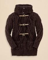 Ralph Lauren Girls' Aran Cableknit Toggle Jacket - Sizes S-XL
