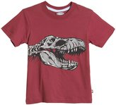 City Threads T-Rex Skull Graphic Tee (Toddler/Kid) - Red-8
