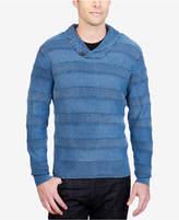 Lucky Brand Men's Textured Stripe Pullover Sweater