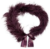 Cassin Violet Feather Scarf