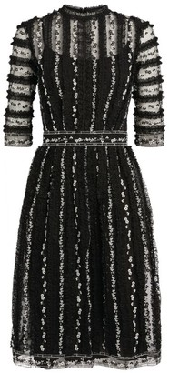 Costarellos Bessina Ruffle Midi Dress