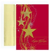 "Hortense B. Hewitt 16ct ""Happy Holidays"" Star Holiday Boxed Cards"