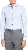 BOSS T-Randolph Trim Fit Stripe Sport Shirt