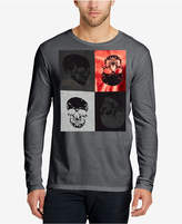 William Rast Men's Every Other Skull Long-Sleeve T-Shirt