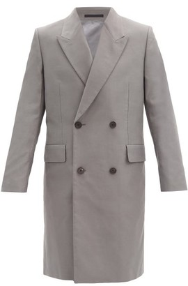 The Row Mickey Double-breasted Cotton Coat - Grey
