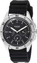 Fossil Men's Quartz Stainless Steel and Silicone Casual Watch, Color:Black (Model: CH3033)