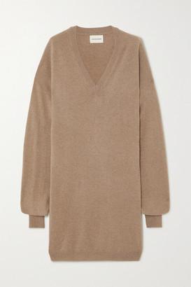 LOULOU STUDIO Gambier Oversized Cashmere Mini Dress - Camel
