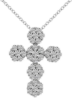 Noray Designs 14K Gold Cluster Cross Pendant