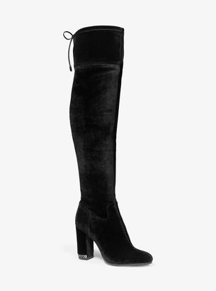 MICHAEL Michael Kors Jamie Stretch Velvet Over-the-Knee Boot