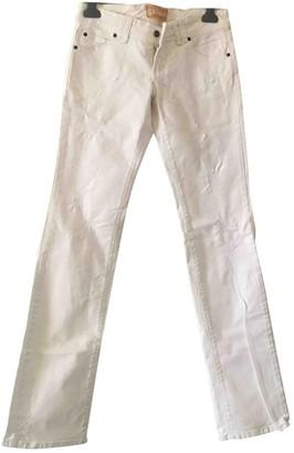 John Galliano White Cotton Jeans for Women