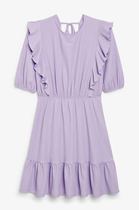 Monki Ruffle mini dress