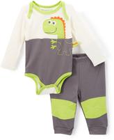 Buster Brown Castlerock & Green Glow Dino Bodysuit & Joggers - Infant
