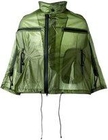 Y-3 cropped rain jacket