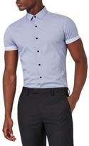 Topman Men's Slim Fit Geo Print Sport Shirt
