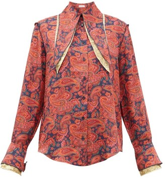 J.W.Anderson Layered-collar Paisley-print Shirt - Red Print