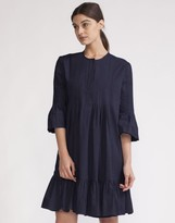 Cynthia Rowley Pintuck Ruffle Dress