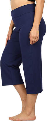 Eag EAG Women's Yoga Pants Navy - Navy Fold-Over Capri Yoga Pants - Women & Plus