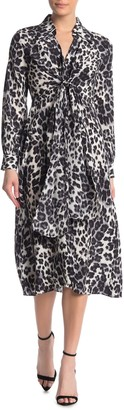 Diane von Furstenberg Donika Tie Front Silk Dress