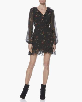 Paige SHAWNA DRESS-BLACK/DARK RUST-FALLING FLORAL