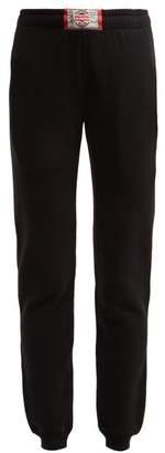 Vetements Boxer-tag Cotton Track Pants - Womens - Black