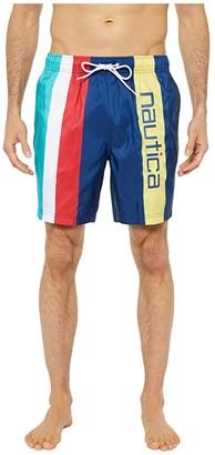 Nautica Striped Swimwear (Blue) Men's Swimwear