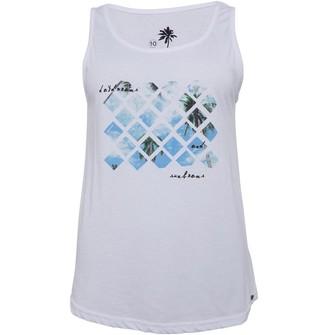 Animal Womens Graphic Vest White