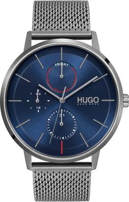 HUGO BOSS Exist Multifunction Mesh Strap Watch, 43mm