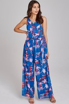 Little Mistress Mattie Floral-Print Wide-Leg Jumpsuit