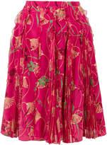 Valentino Lotus print skirt