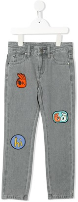 Stella Mccartney Kids Embroidered Badge Jeans