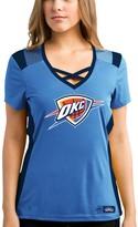 Majestic Women's Blue/Navy Oklahoma City Thunder Draft Me V-Neck T-Shirt