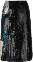 Olympia Le-Tan Walk Alone embroidered skirt