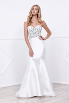 Nox Anabel - Strapless Beaded Sweetheart Long Mermaid Dress 8257