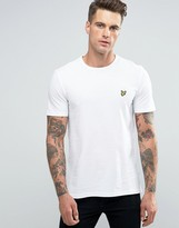 Lyle & Scott Pique T-Shirt Eagle Logo In White