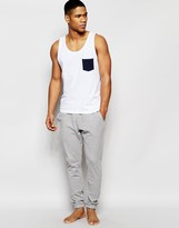 Asos Loungewear Bottoms In Gray Marl Pique