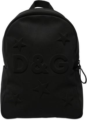 Dolce & Gabbana Embossed Logo & Stars Neoprene Backpack