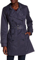 Tommy Hilfiger Belted Printed Trench Coat