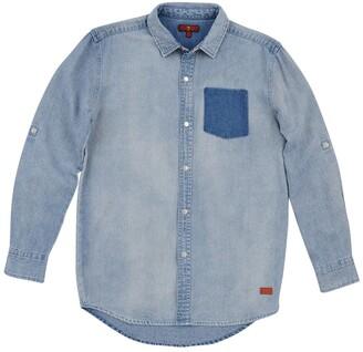 7 For All Mankind Long Sleeve Denim Shirt