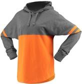 Unbranded Women's Orange Oklahoma State Cowboys Pom Pom Jersey Oversized Long Sleeve Hoodie T-Shirt