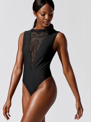 Carbon38 Mesh Plunge Bodysuit