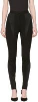 Versace Black Panelled Stretch Leggings