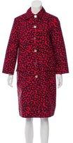 Bottega Veneta Collared Leopard Print Coat