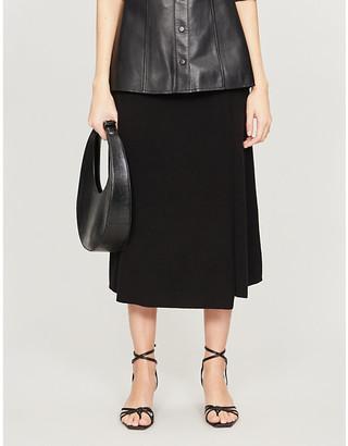 Diane von Furstenberg Hilary high-waist wool-blend midi skirt