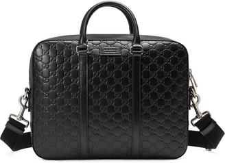 Gucci Signature leather briefcase