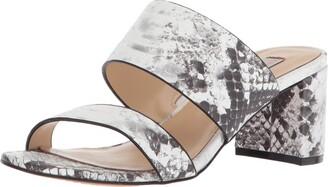 Chinese Laundry Kristin Cavallari Women's Lakeview Heeled Sandal Grey/White Leather 7 M US