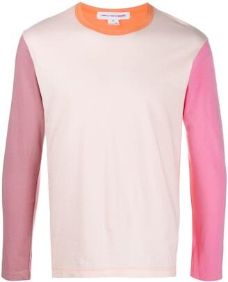 Comme des Garçons Shirt Colour-Block Knit Jumper