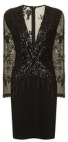 Dorothy Perkins Womens *Girls On Film Black Sequin Bodycon Dress, Black