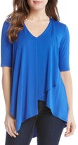 Karen Kane Women's Pencil Sleeve Drape Jersey Top