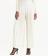 Lauren Ralph Lauren High Rise Waist Pleated Wide Leg Solid Palazzo Pant
